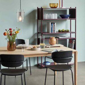 Hübsch spisebordsstol i sort træ og metal