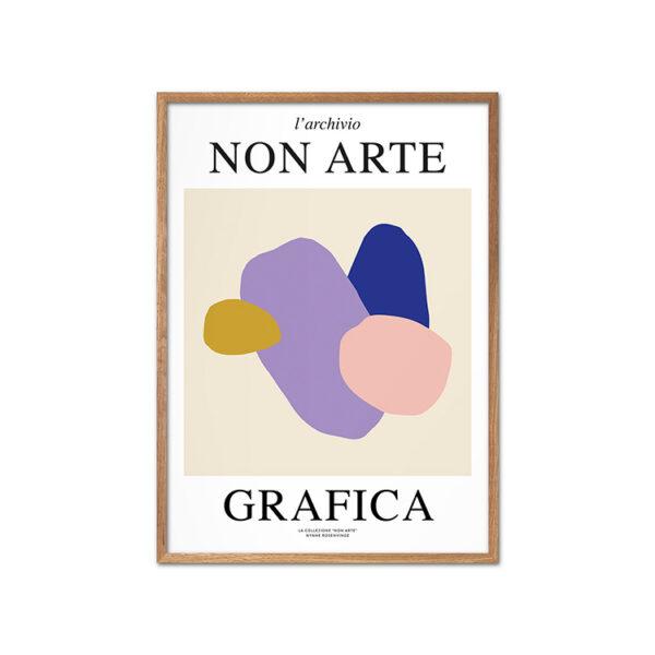 Nynne Rosenvinge Non Arte Grafica 01 med ramme i egetræ