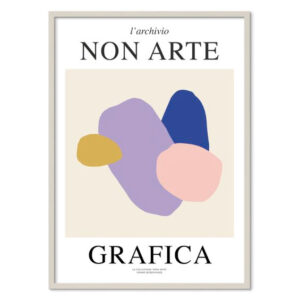 Nynne Rosenvinge Non Arte Grafica 01 med ramme i grå egetræ