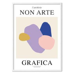 Nynne Rosenvinge Non Arte Grafica 01 med ramme i hvid egetræ