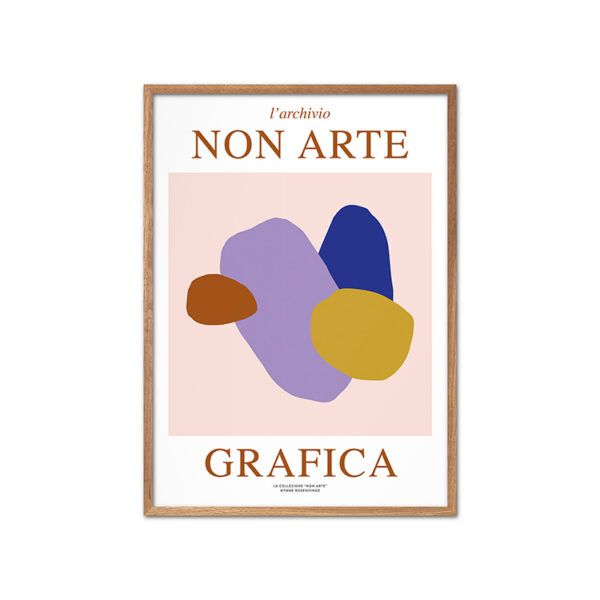 Nynne Rosenvinge Non Arte Grafica 02 med ramme i egetræ