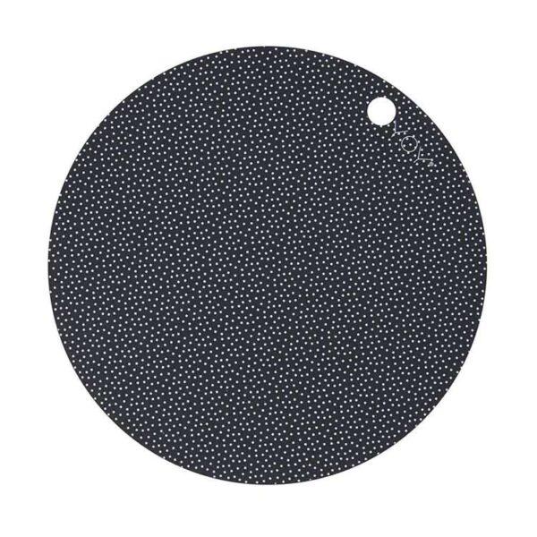 OYOY Dot dækkeservietter i silikone mørkegrå med prikker