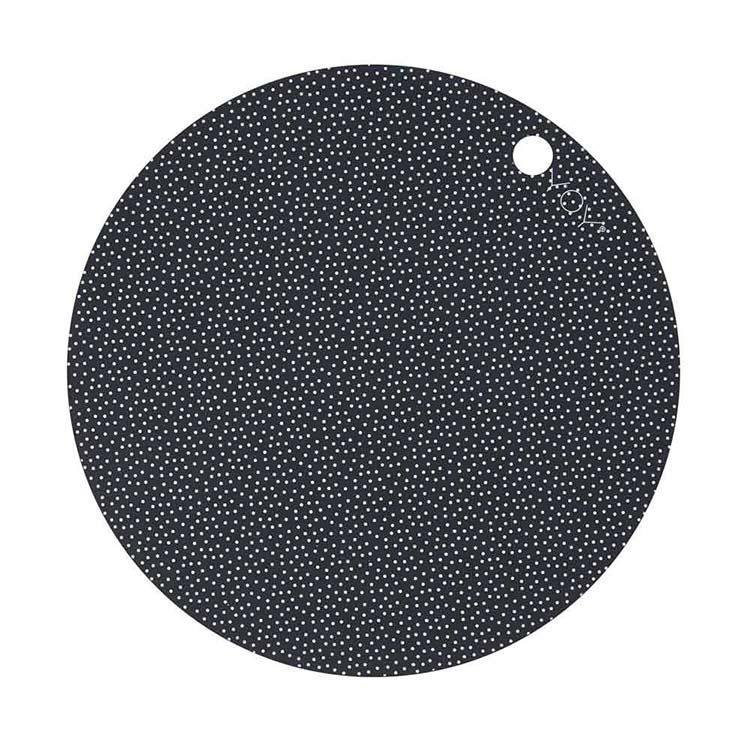 OYOY Dot dækkeservietter mørkegrå – 2 stk.
