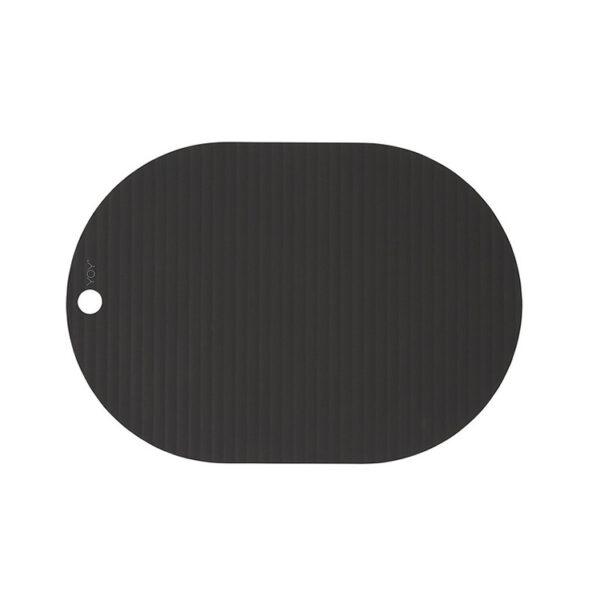 OYOY Ribbo dækkeservietter i sort. Pakke med 2 stk.