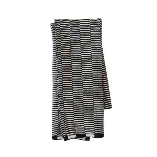 OYOY Stringa mini håndklæde i antracit og råhvid