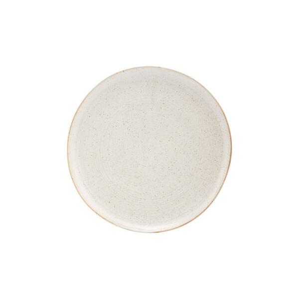 House Doctor Pion frokosttallerken i hvid og grå porcelæn