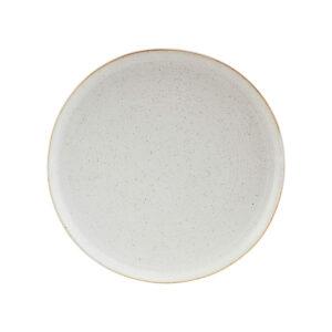 House Doctor Pion middagstallerken i hvid og grå porcelæn