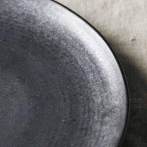 House Doctor Pion frokosttallerken i sort porcelæn