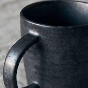 House Doctor Pion krus med hank i sort porcelæn