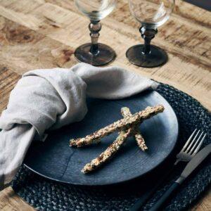 House Doctor Pion middagstallerken i sort porcelæn
