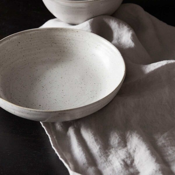 House Doctor Pion skål i hvid porcelæn
