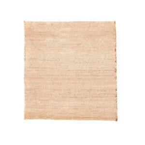 House Doctor Mara gulvtæppe 180x180 cm i naturfarvet jute