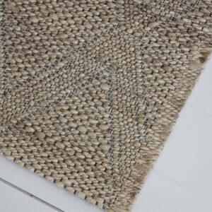 House Doctor gulvtæppe mara 130x85 cm i jute med vævet mønster
