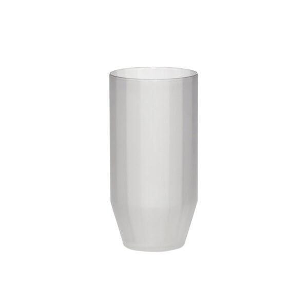 Hübsch drikkeglas i frosted hvid glas med riller. Pakke med 6 stk.