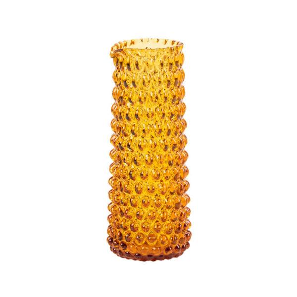 Kodanska danish summer mælkekande i amber. Mundblæst glas