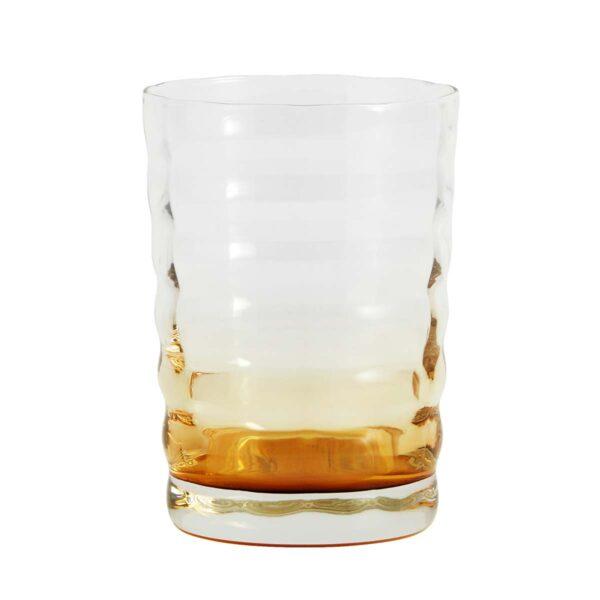 Nordal jog drikkeglas i amber og klar glas med bølger