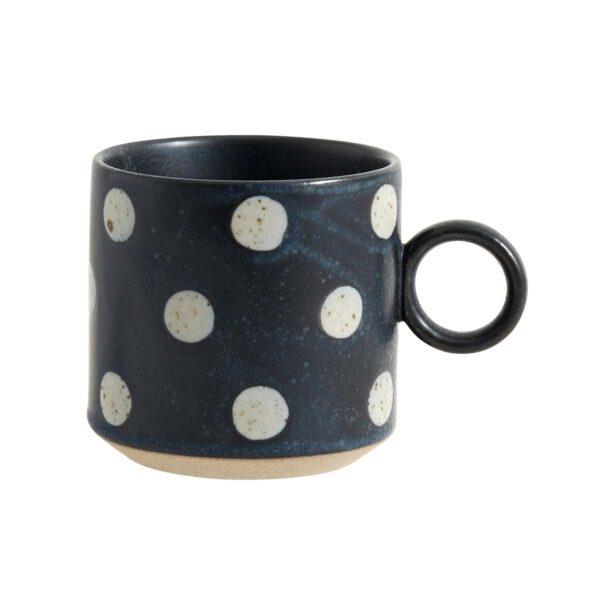 Nordal Grainy dot kop i mørkeblå med lyse bobler