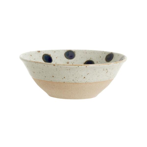 Nordal Grainy dot skål i sand farvet porcelæn