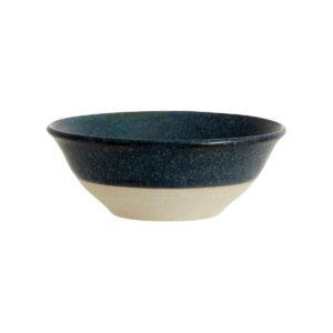 Nordal Grainy skål i mørkeblå porcelæn