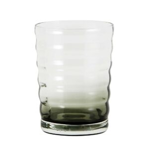 Nordal jog drikkeglas i sort og klar glas med bølger
