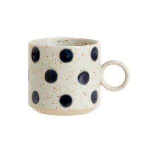 Nordal Grainy dot kop i sand med mørkeblå bobler
