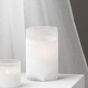 House Doctor mist fyrfadsstage i hvid glas