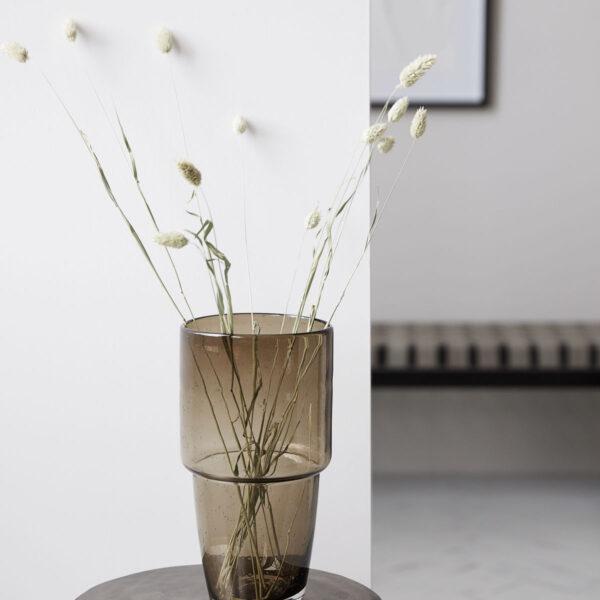 House Doctor Chazia vase i brun glas