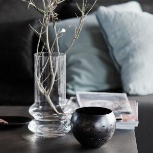 House Doctor Forms vase i klar glas 24 cm høj