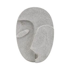 House Doctor face wall art i grå cement