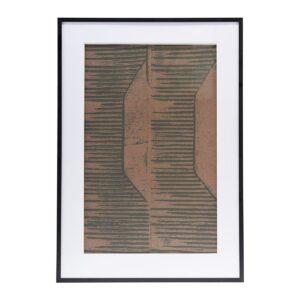 Fields illustration med ramme fra House Doctor i rød / brun
