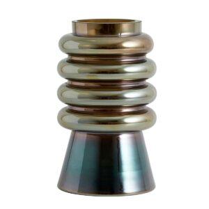 Nordal avarua vase 22 cm høj med metallic effekt