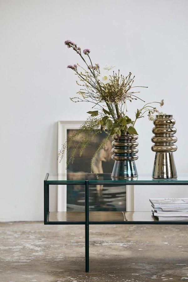 Nordal avarua vase 30 cm høj med metallic effekt