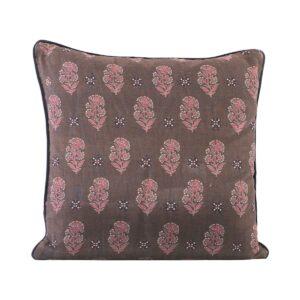 House Doctor Lotus pudebetræk i brune og røde nuancer, 50x50 cm
