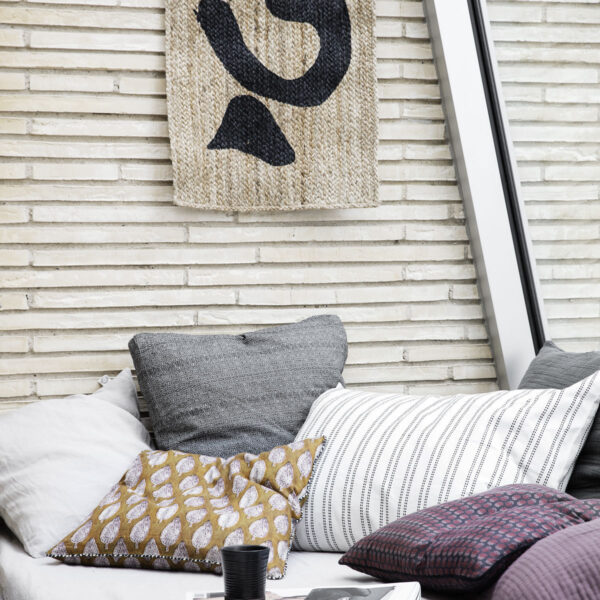House Doctor Parsley pudebetræk i sennepsgul 50x50 cm