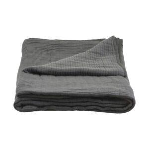 Lia sengetæppe fra House Doctor i mørkegrå
