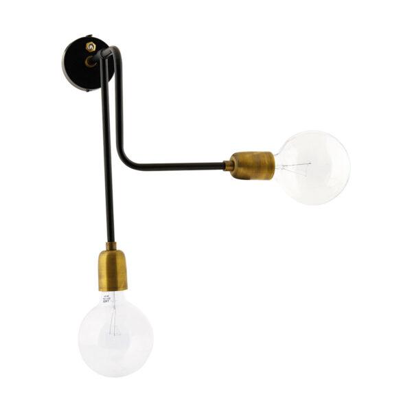 Molecular væglampe fra House Doctor i sort/messing