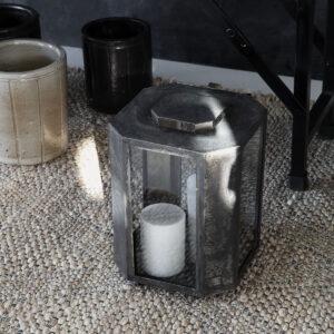 House doctor baazi lanterne i antik brun metal og glas
