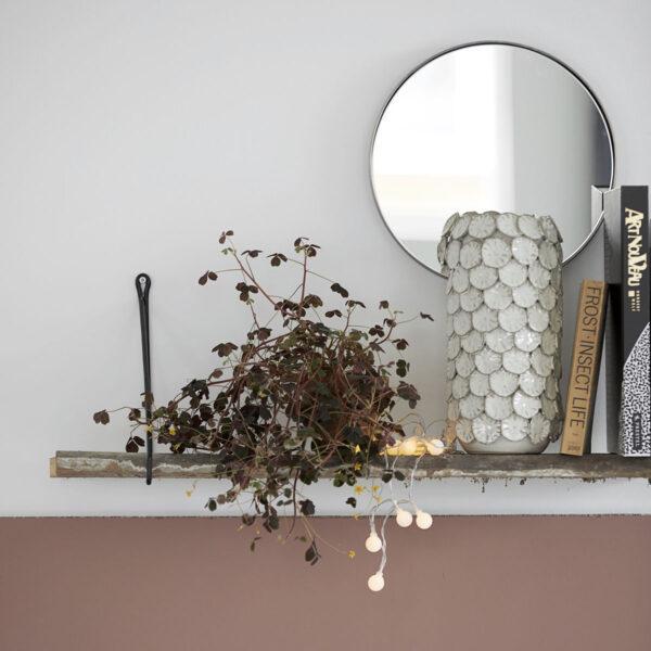House Doctor Reflektion Spejl i mat sort jern