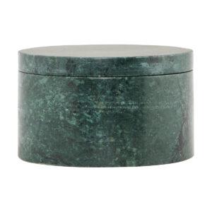 House Doctor marble opbevaring m. låg i grøn marmor