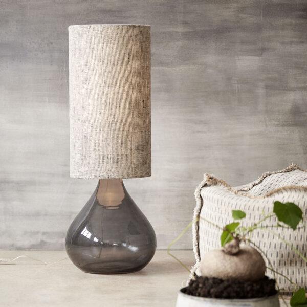 House Doctor Big bordlampe i mørkegrå glas