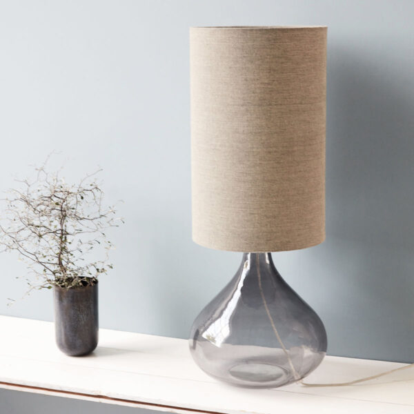 House Doctor small bordlampe i grå glas