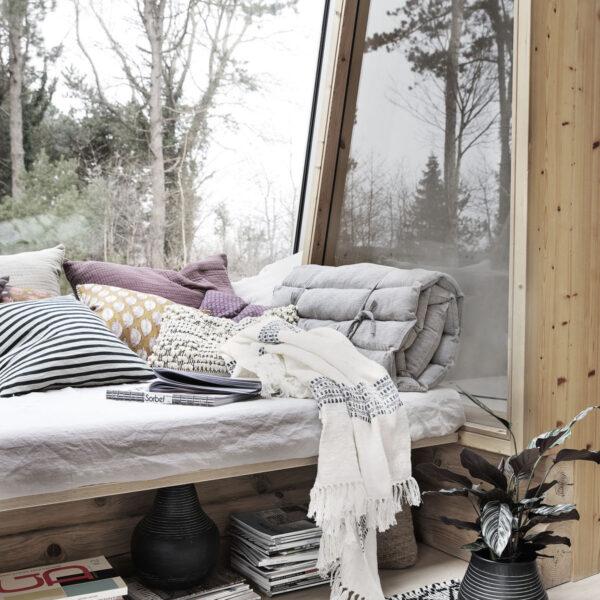 House Doctor Kolonia tæppe i off-white, 130x180 cm