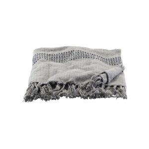 House Doctor KOlonia plaid i grå, 130x180 cm