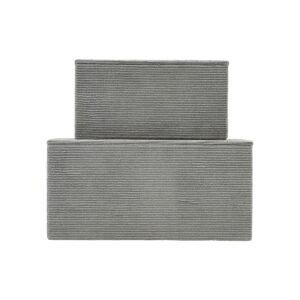House Doctor corduroy opbevaringsæsker i grå fløjl, sæt med 2 stk.
