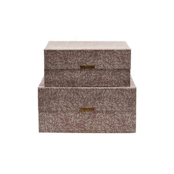 House Doctor Floral opbevaringskasser i grå, 2 stk