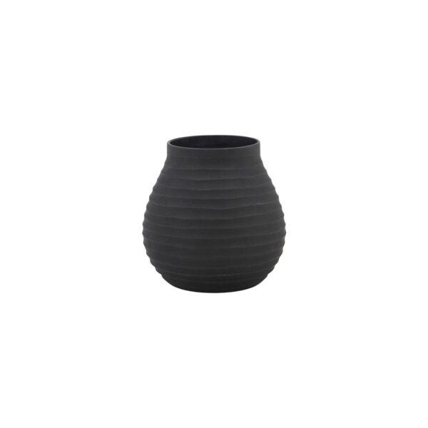 Groove vase fra House Doctor i sort