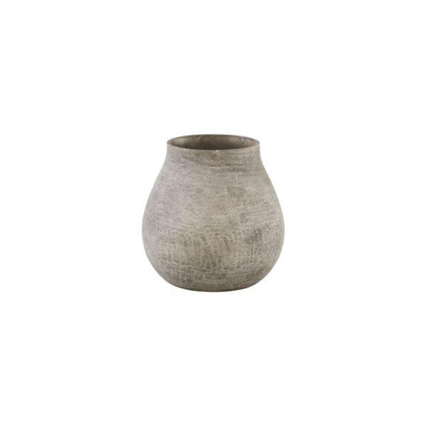 Groove vase fra House Doctor i grå
