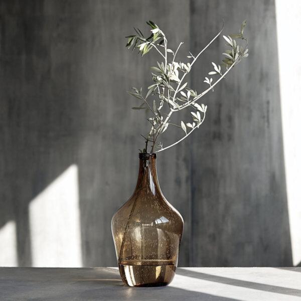 House Doctor Rec glasvase i brun glas 41 cm høj