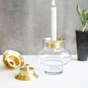 House Doctor Forms low vase i grå glas
