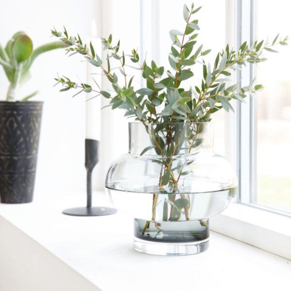 House Doctor Forms Low vase i klar glas